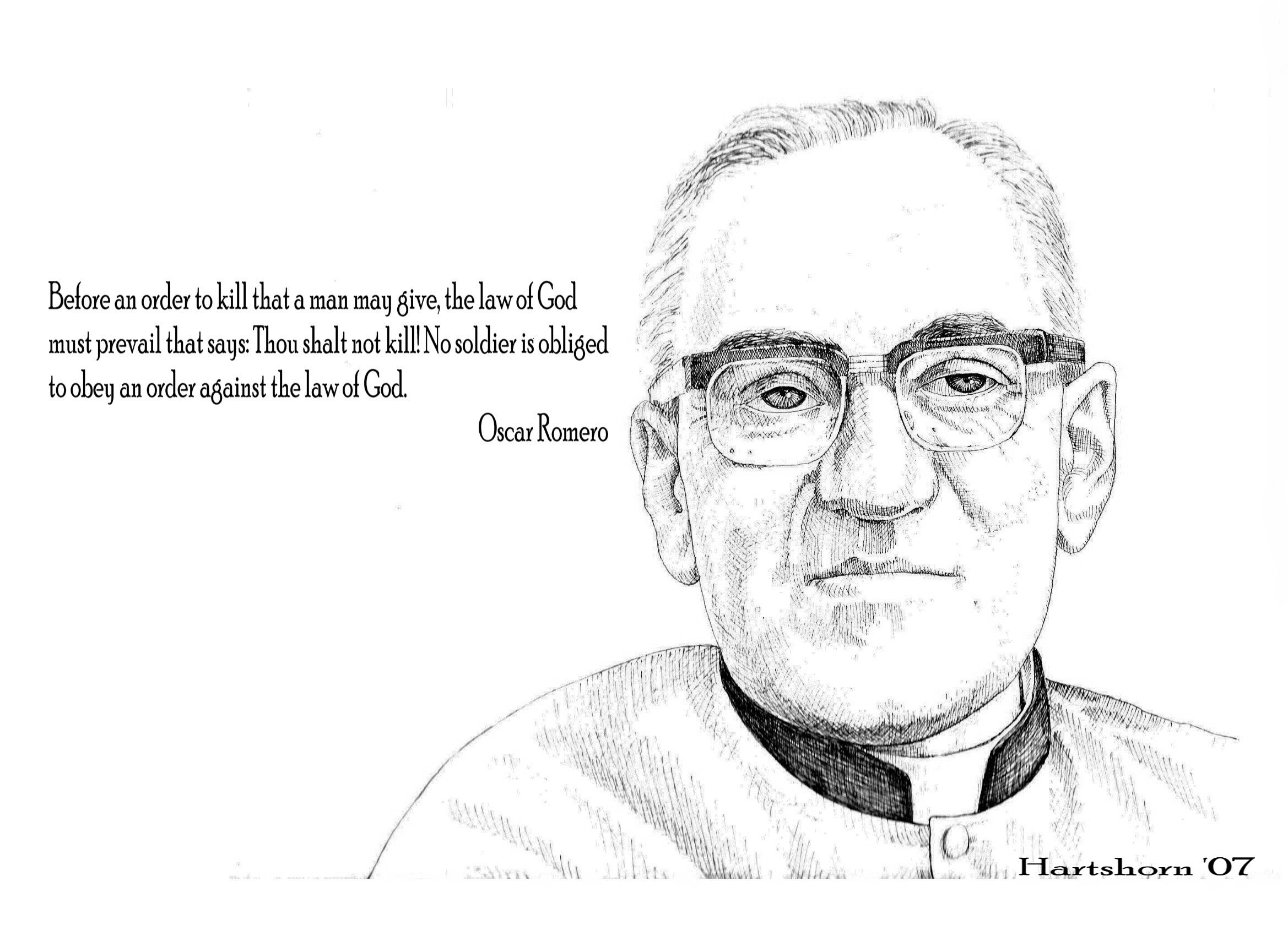 God Crucified A Reaction To Kevin Deyoung further Archbishop Oscar Romero additionally Vikings 2013 besides Archbishop Romeros Legacy Is Relevant To New Generation furthermore Social Justice Links. on oscar romero church