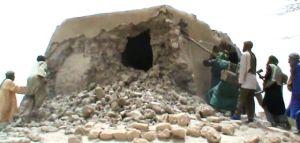 Tiancient mausoleum destroyed