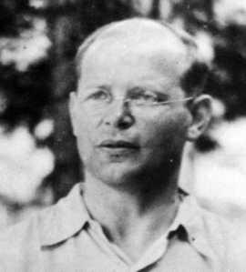 Dietrich Bonhoeffer-murdered by Nazis for opposing Hitler