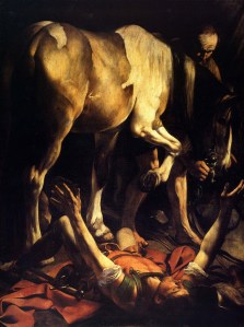 Conversion by God alone? St.Paul by Caravaggio