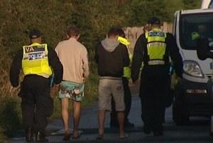 forced labour-police intervene