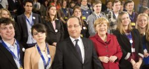 French and German leaders celebrate European peace with young people