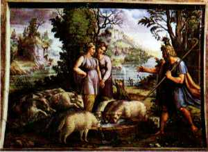 Jacob and rachel at the well: Raffael.
