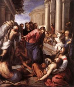 Luke's image of Jesus healing many people