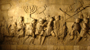 Arch of Titus showing Jewish captives in victory procession