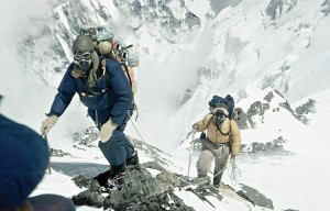 Tenzing and Hillary establish camp at 28,000' on Everest