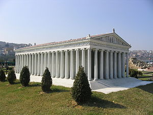 The temple of Artemis at Ephesus (model)