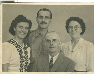 Rev. Alex Mair (front) with (left to right) my father, my aunt and grandfather's second wife, Betty