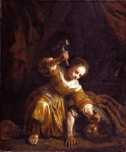 In the wars of the Israel confederacy Jael kills Sisera, the foreign leader