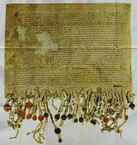 """Scottish Declaration of Arbroath 1320 """"It is in truth not for glory, nor riches, nor honours that we are fighting, but for freedom – for that alone, which no honest man gives up but with life itself"""""""