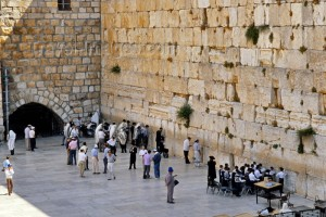 The wailing Wall here Jews still mourn the destruction of the Temple