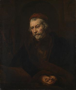 Rembrandt: self portrait as St. Paul