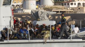 African migrants at Lampedusa