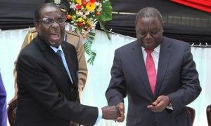 Robert Mugabe and Morgan Tsvangirai