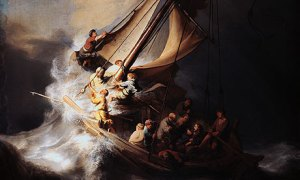 rembrandt: Jesus asleep in the storm