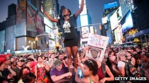 Protest at Trayvon verdict