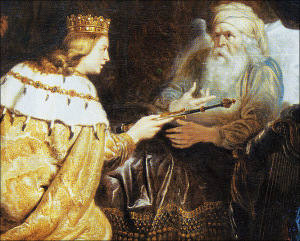Bathsheba pleads for Solomon