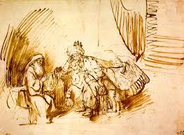 Nathan and David: Rembrandt