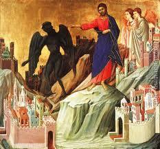 Jesus rejects Satan's temptation