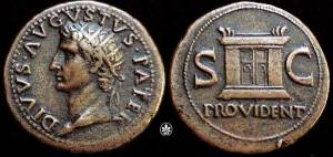 Divine Augustus -and interesting anticipation of  what Scots call the Provi!