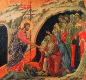 Jesus binds the Devil and sets the prisoners free