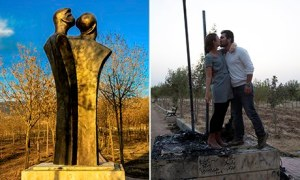 The statue was destroyed by religious bigots promoting family values