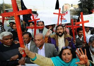 Pakistani Christian protest persecution