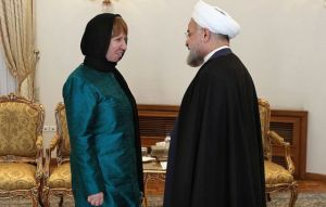 EU minister Catherine Ashton and President Rohani in Teheran