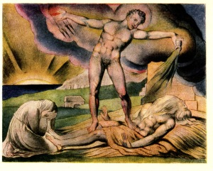 Satan and Job by Blake