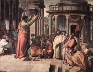 Raphael: Paul preaching in Athens