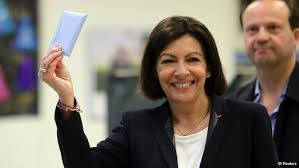 Anne Hidalgo, New Mayor of Paris, hair uncovered