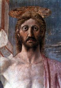 The face of the risen Christ, Piero della Francesca