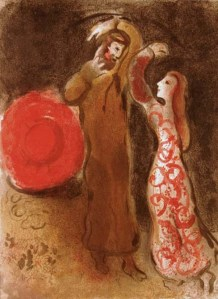 Ruth and Boaz, Chagall