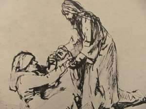 Rembrandt: Jesus heals Peter's mother-in-law