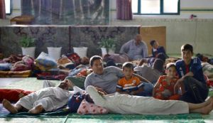 refugee christians shelter in mosque