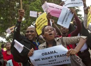 anti-gay demo in Uganda