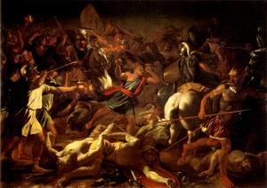 Poussin: Gideon's battle