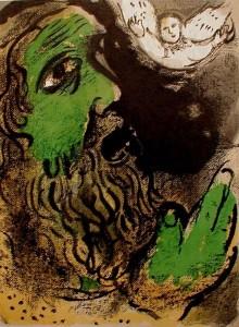 Iyov at prayer by Chagall