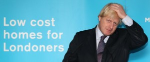 Mayor Boris Johnson Visits Building Site For New Homes