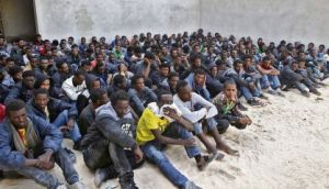 Migrants, aiming for Europe,  detained in Libya
