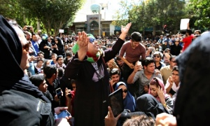 protest in Isfahan