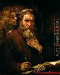 the guidance of the spirit: Matthew and the Angel, Rembrandt