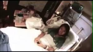 Nurse Nina Pham in hiospital in Texas
