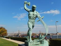 Swords into Ploughshares. (Scupture at UN New York)