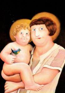 Beryl Cook: Madonna and Child