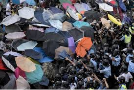 Hong Kong protesters: trees of justice