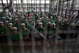 Rohingya Muslims in Burmese detention centre