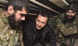 Bachar Assad visits troops