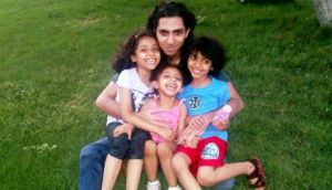 Raef Badawi blogger, wit his kids. He's in a Saudi jail for nothing