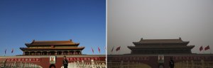 Beijing before and after pollution